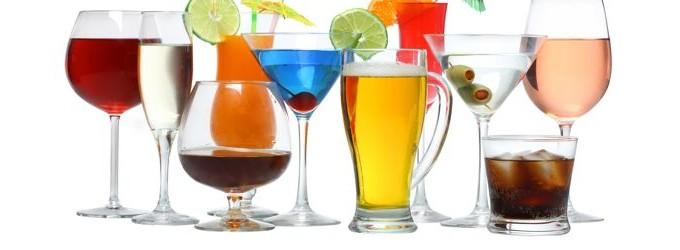 Разнообразные алкогольные напитки